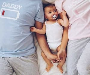 family, baby, and daddy image