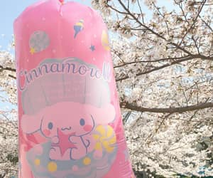 cherry blossoms, cinnamoroll, and cotton candy image