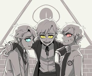 gravity falls, will cipher, and dipper pines image