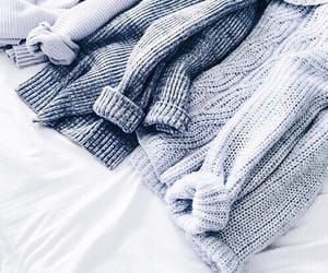 sweater, blue, and style image