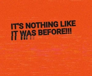 orange and words image