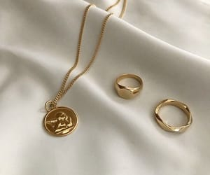 accessories, gold, and necklace image