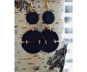 black, earrings, and girly image