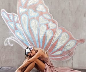 butterfly, girl, and inspiration image