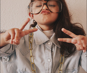 girl, kids, and hipster image