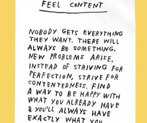 content, feelings, and life image