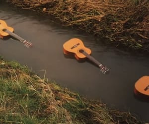 acoustic, guitar, and river image