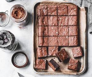 brownie, chocolate, and dessert image