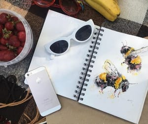 art, bee, and glasses image