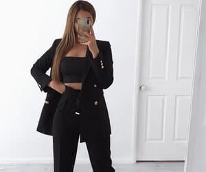 black, blazer, and business image