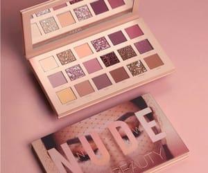 make-up, nude palette, and huda beauty image