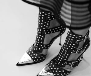 Alexander McQueen, black and white, and shoes image