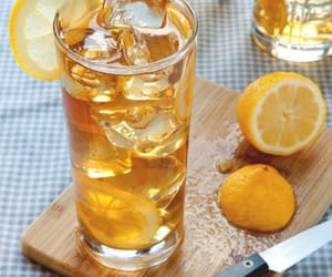 drinks, ice cubes, and iced tea image