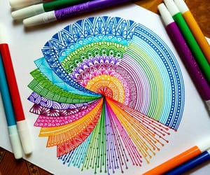 art, circle, and colores image