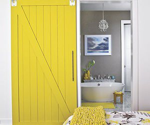 bedroom, door, and yellow image