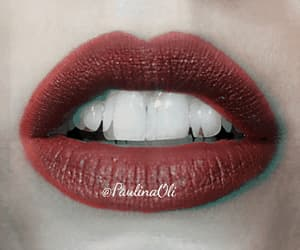 black, red lips, and black lips image