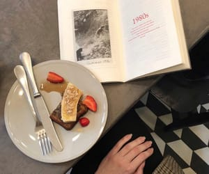 books, breakfast, and chic image