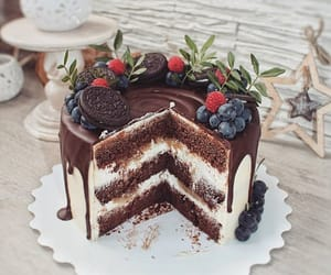 cake, chocolat, and food image