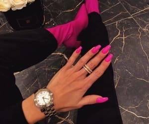 nails, pink, and tumblr image