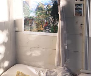 bedroom, summer, and light image