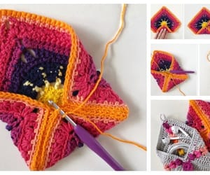 crochet, granny square, and pouch image