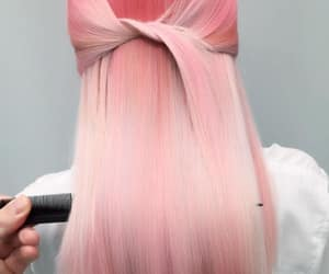 cheveux, pink, and rose image