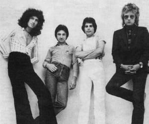 black and white, Freddie Mercury, and brian may image