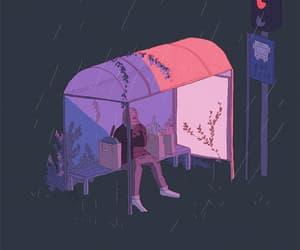aesthetic, art, and rain gif image
