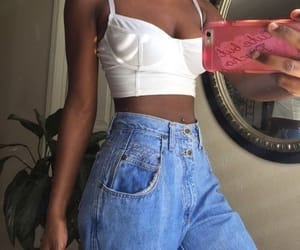 aesthetic, denim, and fit image