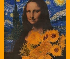 art, mona lisa, and vincent van gogh image