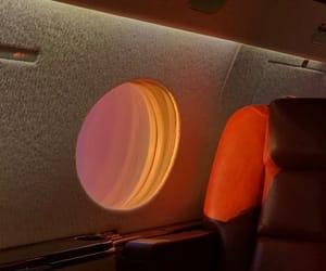 aesthetic, orange, and plane image
