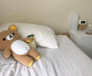 aesthetic, bed, and beige image