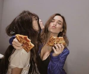 girl, pizza, and friendship image