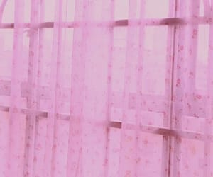 bedroom, magenta, and curtains image