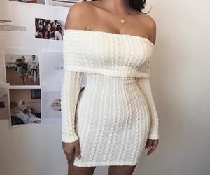 dress, fashion, and knitted image
