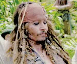 captain jack sparrow, johnny depp, and gif image