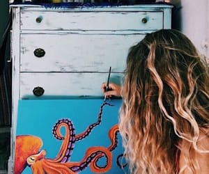art, blond, and poulpe image