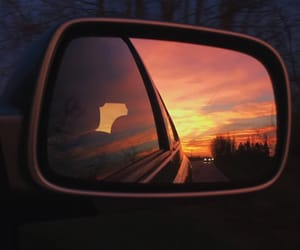 car, clouds, and dawn image