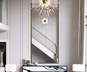 chandelier, diamond, and gold image