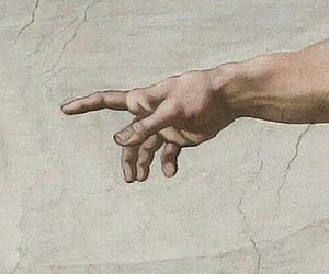 art, michelangelo, and hands image