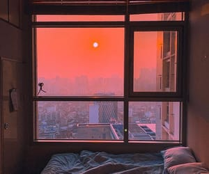 sunset, aesthetic, and bed image