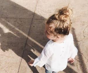 bun, child, and girl image