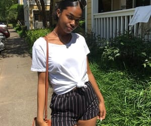outfit, stripes, and summer image