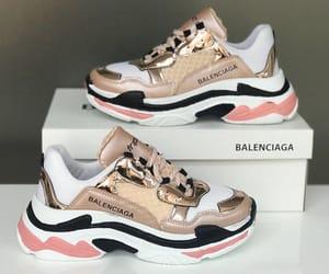 Balenciaga, gold, and sneakers image