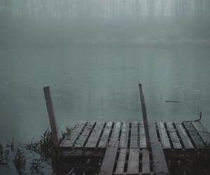 dark, grunge, and lake image