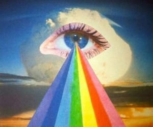 eye, rainbow, and art image