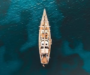 boat, landscape, and vertical image