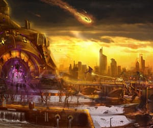 apocalyptic, art, and end of days image