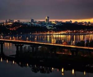 city, night city, and kiev image