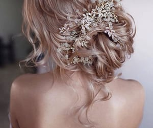 accessories, blonde, and hair image